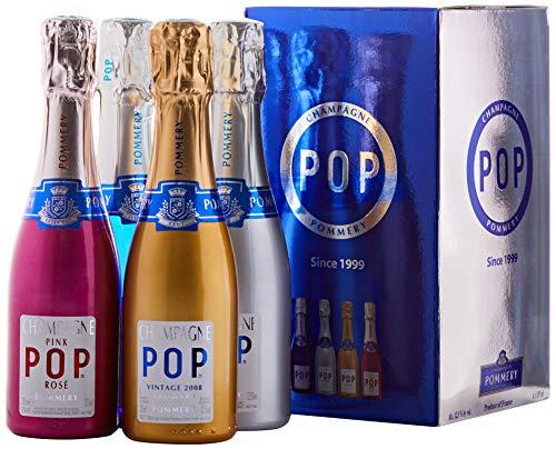 Champagne Pommery POP 4 qualités sous coffret - 4x20cl