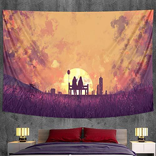 KHKJ Delfín Animal Dormitorio decoración del hogar Tapiz Escena psicodélica Mandala Hoja Decorativa Bohemia sofá Manta A5 200x150cm