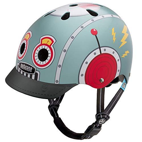 Nutcase Street Helmet Kinder tin Robot Kopfumfang M   56-60cm 2019 Fahrradhelm