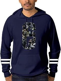 Six-Siege Men's Cotton Hooded Sweatshirt Warm Hoodie Long Sleeve Pullover Round Neck Top