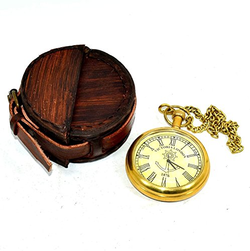 Hello.Nauticals.Store 000421pl - Reloj de Bolsillo (latón), diseño Victoriano, Estilo Vintage, Caja...