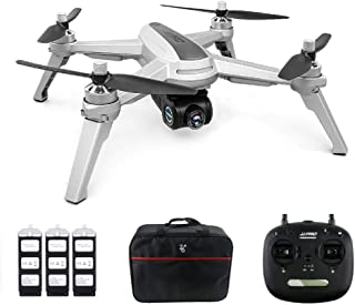 JJRC JJPRO X5 Drone with Camera 1080P and GPS Positioning Brushless Motors 5G WiFi FPV Racing Quadcopter - Gray (3 Batteries + Bag)
