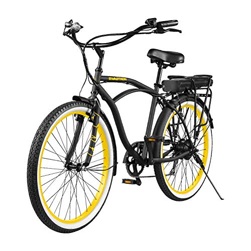 Swagtron EB-11 Electric Cruise Bicycle w/ 7-Speed & Removable Battery
