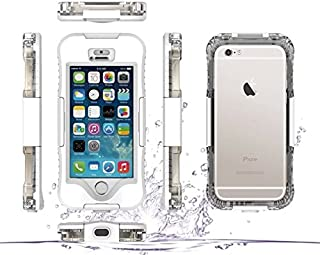 iPhone SE/5 Waterproof Case/5, Haoshi Waterproof Shockproof Dirtproof Snowproof Full SE/5aled Case/5 Cover for iPhone SE/5 4.0 inch - White