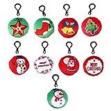 Artibetter 20 Piezas Llavero de Felpa de Navidad Llavero de Dibujos Animados Navidad Mini Almohada de Felpa Llavero Llavero Llavero Colgante Bolsa Decoración Juguete Decoraciones