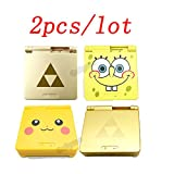 2pcs/lot Limited Cartoon Pikachu/Zeald/Spongebob Version Repair Housing Shell Case Cover for Nintendo Gameboy Advance SP GBA SP