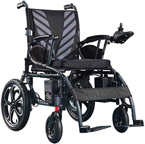 Elektro Rollstuhl Klapprollstuhl Elektrisch, Rollstuhl, 2020 Compact Ultraleicht Elektro-Rollstuhl, Ultra-Light Polymer-Lithium-Ionen-Akku, Leichte Stahlrahmen Vier-Rad-Fahrwerk Tragbarer Rollstuhl, E