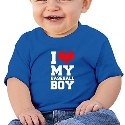 Cml519 I Love My Baseball Boy Baby T-Shirt,Baby T Shirts 6-24 Months