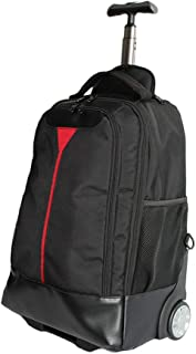 GLJJQMY Travel Bag Backpack Student Fashion Travel Bag Business Office Multi-Function Trolley Bag Trolley Backpack (Color : Black, Size : 54x22x32cm)