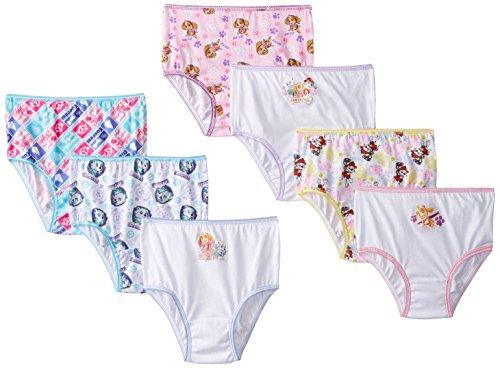 Nickelodeon Girls' Paw Patrol Underwear Briefs - 2T/3T - Assorted (Pack of 7)