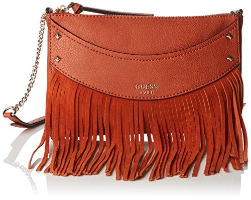 Guess Damen schultertasche, Solene Crossbody Top Zip, Gr. Taglia Unica, Braun (Tan)