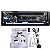 VIGORFLYRUN PARTS LTD Autoradio Panneau détachable stéréo 1 DIN 12V Radio FM MP3 MP3 Bluetooth CD VCD Récepteur multimédia pour Voiture USB USB