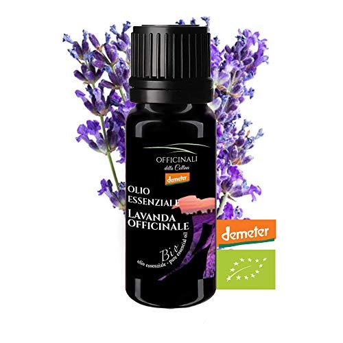 Olio Essenziale Biodinamico di Lavanda Officinale DEMETER 10ml - L'unico selezionato 100% Italiano e Certificato BIO