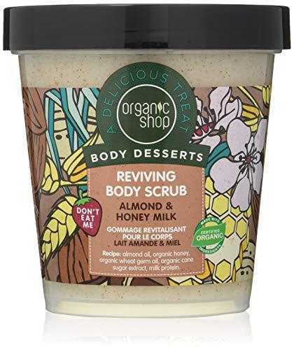 Organic Shop Exfoliante Corporal Revitalizante con Leche de Almendras y Miel - 450 ml