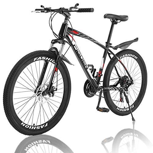 2020 New MTFITNESS 26 Inch Mountain Bike with 21 Speed Dual Disc Brakes Full Suspension Non-Slip Outdoor Bikes for Men Women