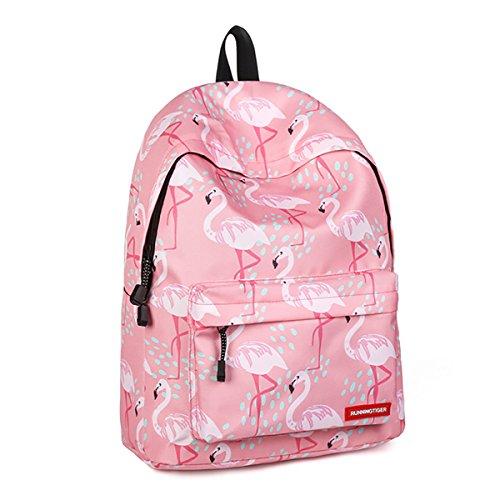 JOSEKO Zaino da Donna,Impermeabile Multifunzione Borse spalla Zaino Studente Zaino Casual Daypack Per la gita scolastica fare shopping Galaxy (Rosa # 1)