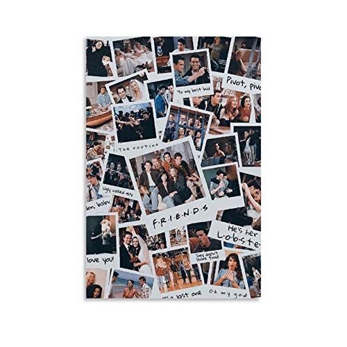QASD TV Show Friends Collage Poster Wall Decor Prints Poster Living Room Wall Art Decor Canvas Hanging Picture 16x24inch(40x60cm)