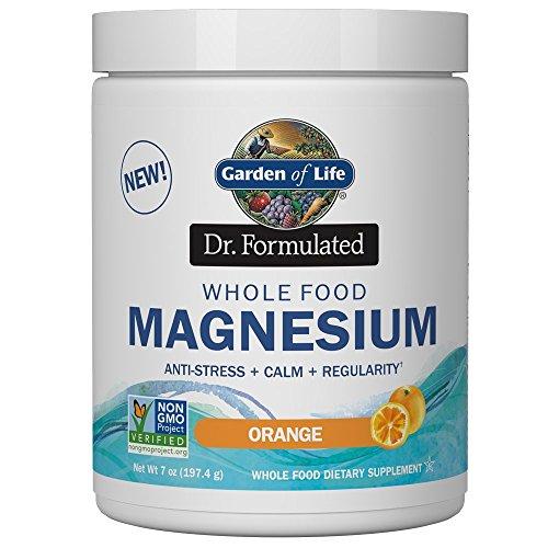 Garden Of Life Dr. Formulado Alimentos Integrales Magnesio en Polvo, Orange 420 g