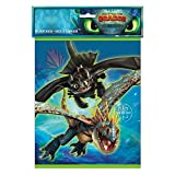 Unique 79183 How to Train Your Dragon Party Loot Bags, 8 Ct., Multi, One Size