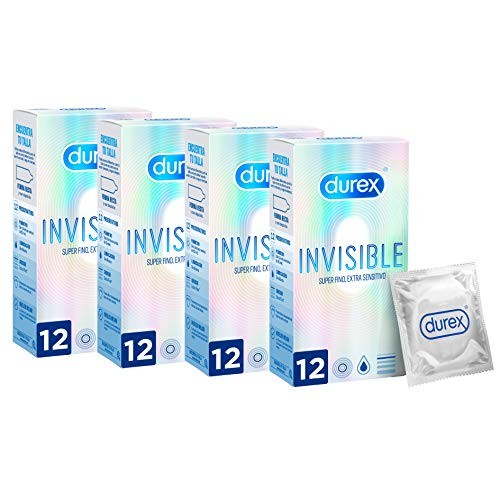 Durex Preservativos Invisible Extra Fino Extra Sensitivo y Extra Suave - 48 condones