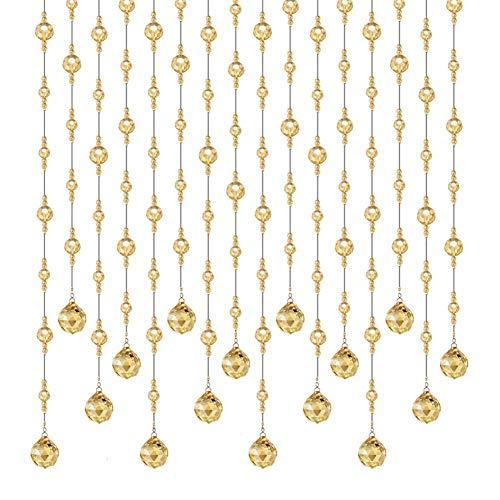ZXL kralen gordijnen glas kristallen hanger decoratie kamer divider woonkamer kast (kleur: A, Grootte: 29 strengen-100x150cm)