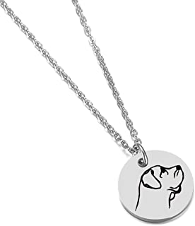 Mastiff Gifts for Dog Moms Dog Lover Gifts Dog Jewelry Disc Necklace