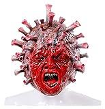 ISADHP Scary Halloween máscara, la máscara Espeluznante Viejo, Halloween Látex Humana Arrugas de la mascarilla del Viejo Sombrero de la Mascarada de Disfraces de Halloween