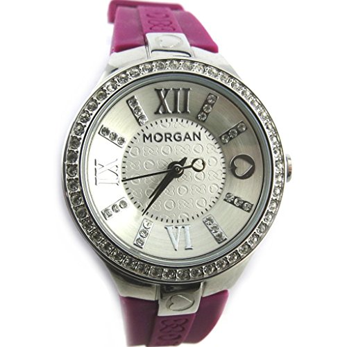 Morgan [N2420] - Armbanduhr 'French Touch' 'Morgan' Purpur silberfarben (diamanten).