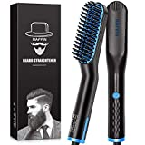 Beard Straightener for Men, Heated Hair Beard Straightener for Short Beard Brush for Men Gifts Beard Straightening Comb Hair Brush Gifts for Men