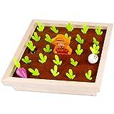 JSKLDF Clasificación de Color de Forma de rábano Clasificación de Color Carrot Harvest Toy Memory Juego Puzzle Juguete de Madera Niño Desarrollo Fino Motor Habilidades Regalo
