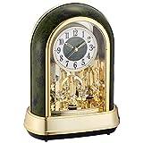 シチズン 置き時計 電波 アナログ パルドリームR427 クリスタル 飾り 12曲 メロディ 緑 CITIZEN 4RN427-005