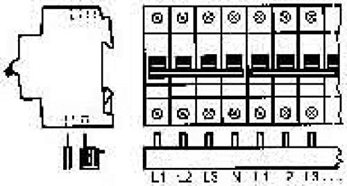 Abb-entrelec 2CDL240101R1012 ABB Phasenschiene PS4/12 4phasig 12 Module