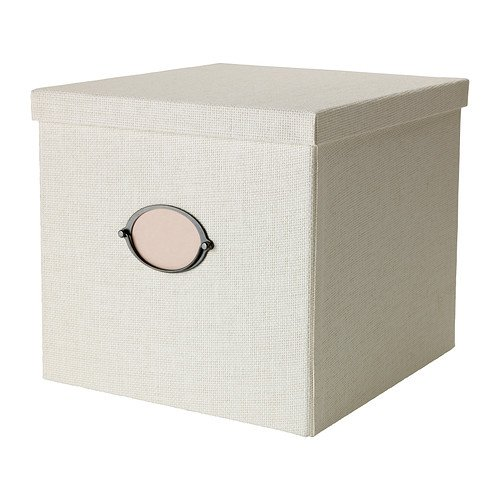 KVARNVIK, A4, 32 x 35 x 30 cm, Home Office hochwertiger Aufbewahrungsbox mit Deckel, White Label, &(Ideal für Zeitschriften, Fotos oder Erinnerungsstücke,)