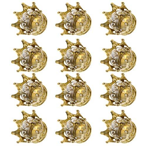 Cabilock 12 Unidades Cajas de Dulces Corona Hueca para La Princesa Niño Niña Baby Shower Cumpleaños Boda Cajas de Embalaje Favores de Fiesta Decoraciones Doradas