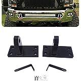 Hidden Bumper 32 inch Light Bar Mounting Bracket w/Tow Hook for 2010-2018 Dodge RAM 2500/3500/4500 4th Gen