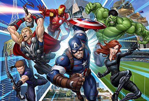 1000 Teile Puzzle,Marvel Universum,Superhelden,Filmcharakter Poster 1000 Stück Puzzlefür,Pädagogisches intellektuelles Dekompressions Familienspiel