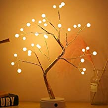 Tree Lights Night Light with Touch Button, 36 LED Pearl Beads Fairy Light Children's Room Décor Battery & USB Powered Tree...