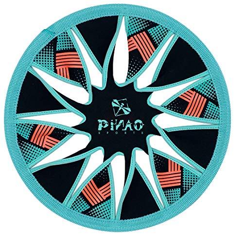 PiNAO Sports - Neopren Wurfscheibe Twist (33061) [Flugscheibe, Scheibe, Disc Ø 30 cm, Gravity Disc] (Petrol)