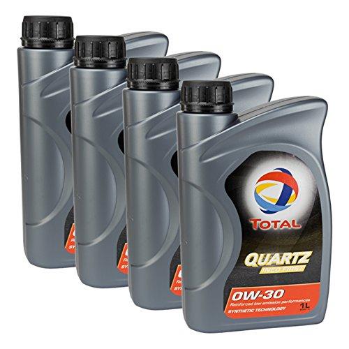 4 x olio per motore TOTAL QUARTZ INEO FIRST 0W-30, 1 l