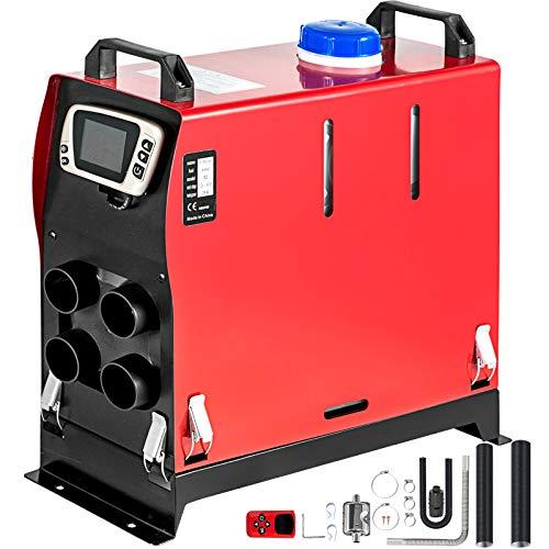 VEVOR Calentador de Aire Diesel 12V 5KW Calentador de Combustible Calefacción Estacionaria Calentador Diesel Aire Calentador de Estacionamiento Control Remoto con Interruptor LCD (4 Salidas de Aire)