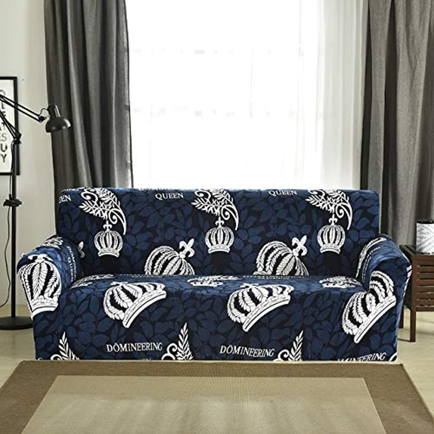 Plush fabirc Printed Sofa Cover 1 2 3 4 seat Thick Slipcovers Couch Covers Stretch Elastic Cheap Sofa Covers Towel wrap Covering   6910, AB 90-140cm
