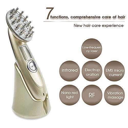 Profesional pelo crecimiento láser peine cabeza eléctrica masajeador estimular el folículo de pelo y aceite de control mejorar la circulación sanguínea