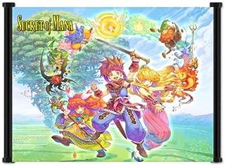 Secret of Mana Super Nintendo Game Fabric Wall Scroll Poster (42