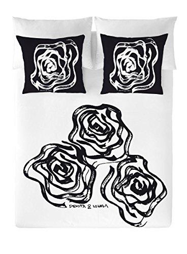 Devota & Lomba Rosas Funda Nordica, Algodon, Multicolor, cama 150 cm