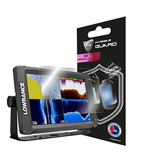 """IPG For LOWRANCE ELITE 12"""" TI FISH FINDER Fish Finder Invisible Film Screen Protector Guard Cover Free Lifetime Replacement Warranty Bubble -Free -  IPG 1452"""