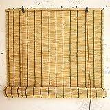 Bulaxxooo Persianas Enrollables Bambú, Persianas Enrollables Madera Romana Bambú Marrón Claro Ventanas Y Puertas, Dispositivos Elevadores El Hogar Y La Oficina, Dos Poleas, Dos Cuerdas De Bambú
