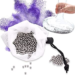 Panngu 1200 Perlas limpiadoras, Perlas de Acero Inoxidable, Reutilizables Bolas de Limpieza para Decantador, Jarrón, Jarras, Botellas
