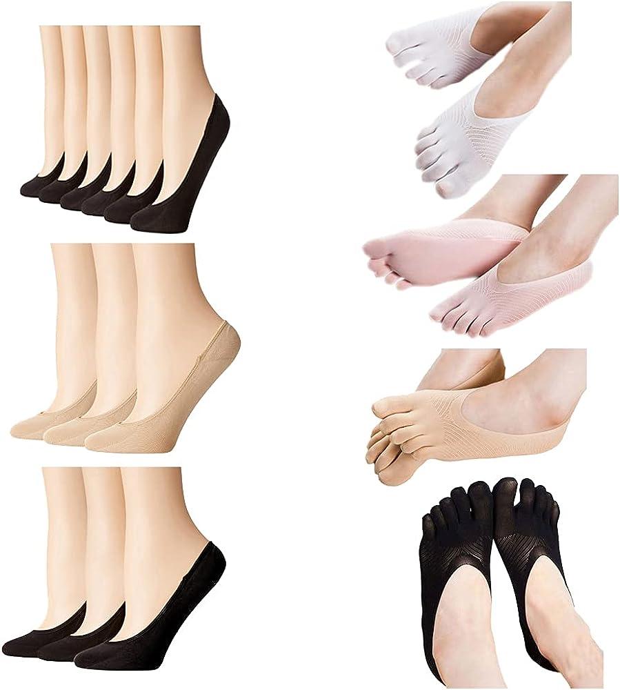 dffa No Show Socks For Women Soft Socks Low Cut Anti-slid Athletic Casual Socks Feetures Socks