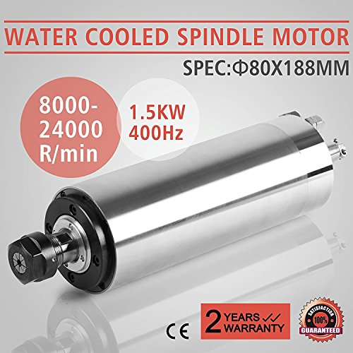 ZauberLu 1,5KW Wassergekühlte Spindelmotor Spindelmotor Für CNC Gravieren Spindel Motor ER11 Water Cooled Spindle Motor