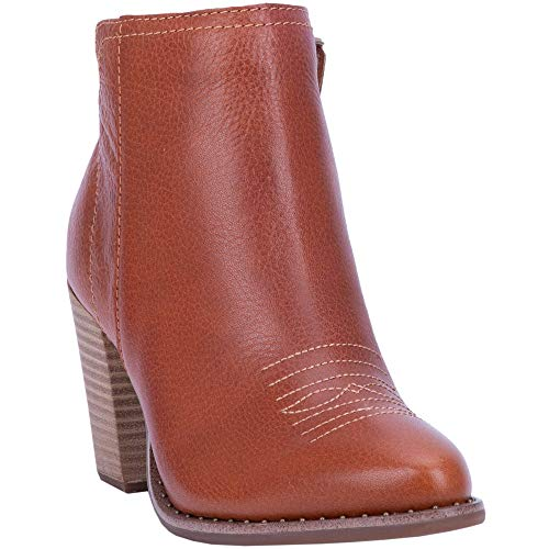 "Dingo Fashion Boots Womens Call Back Ankle 5"" Shaft 11 M Cognac DI161"